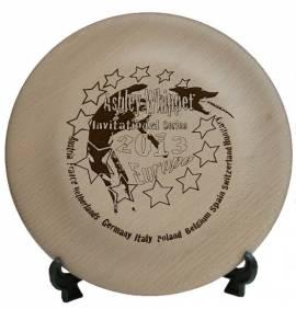 Holzscheibe im Frisbeedesign groß - Bild vergrößern